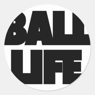 Pegatina Redonda Vida de la bola