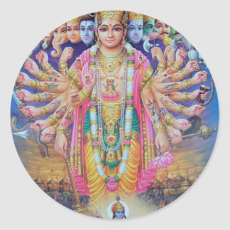 Pegatina Redonda Vishnu