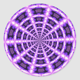 Pegatina Redonda Vórtice rosado y púrpura
