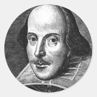 Pegatina Redonda William Shakespeare