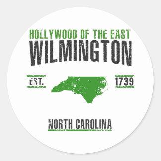 Pegatina Redonda Wilmington