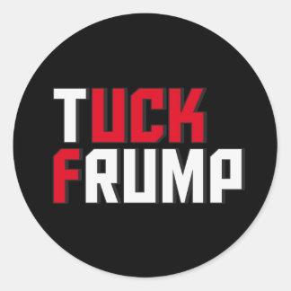 Pegatina Redonda Wordplay anti divertido de Donald Trump de la
