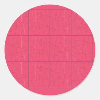Pegatina Redonda Zigzag rosado de los elementos del diseño
