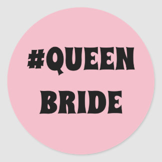 Pegatina redondo de la novia de la reina
