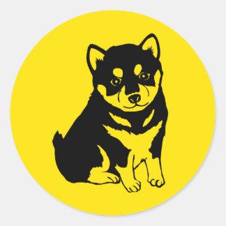 Pegatina redondo del año 2018 chinos del perro de