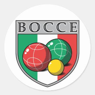 Pegatina redondo del escudo de Bocce