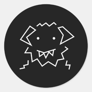 Pegatina redondo del logotipo simple de