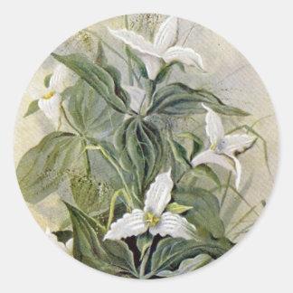 Pegatina redondo Grande-Florecido del Wildflower