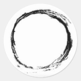 Pegatina redondo sereno de Qi