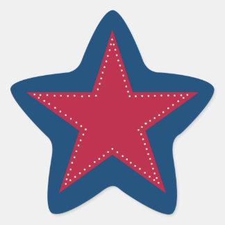 Pegatina rojo de la estrella - navidad