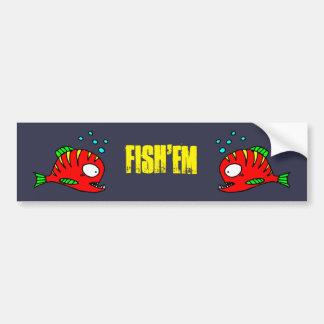 Pegatina rojo de los pescados