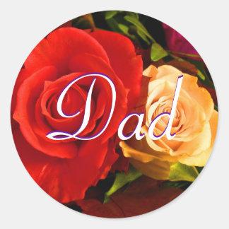 Pegatina rojo del rosa amarillo del papá