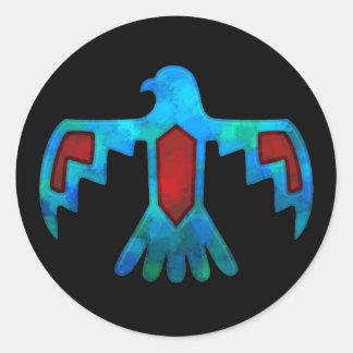 Pegatina rojo y azul de Thunderbird