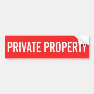 Pegatina rojo y blanco de la propiedad privada