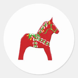 Pegatina rojo y verde del caballo de Dala