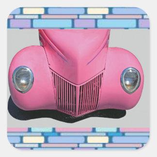 Pegatina rosado del coche