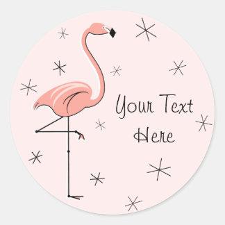 Pegatina rosado del texto del flamenco