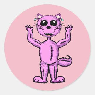 Pegatina rosado lindo del gatito