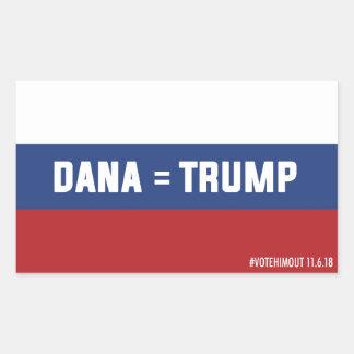 Pegatina ruso de la bandera de Dana = del triunfo