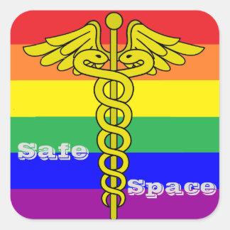 Pegatina seguro del espacio de LGBTQ