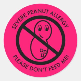 Pegatina severo de la alergia del cacahuete (fije