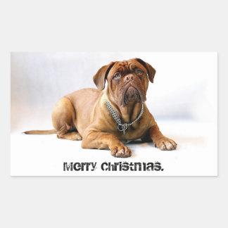 Pegatina sin expresión de las Felices Navidad del