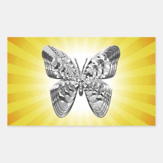Pegatina soleado de la mariposa del diamante