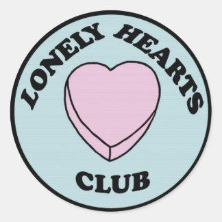 Pegatina solo del club de los corazones