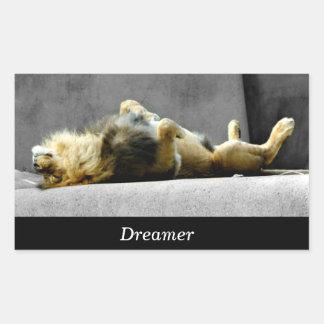 Pegatina soñoliento del león