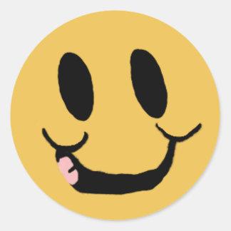 Pegatina sonriente feliz de la cara