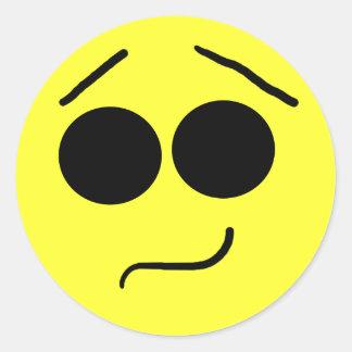 Pegatina sonriente inseguro de la cara