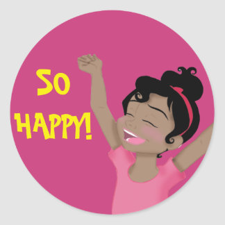 "Pegatina ""tan feliz"" de ClaraBelle"