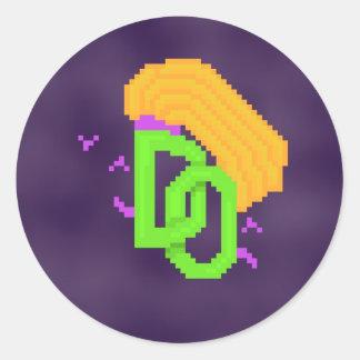Pegatina temido redondo del logotipo de las