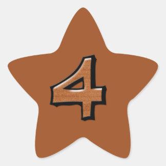 Pegatina tonto de la estrella del chocolate del nú