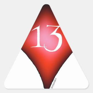 Pegatina Triangular 13 de diamantes