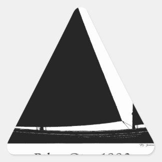 Pegatina Triangular 1880 carruaje experimental - fernandes tony