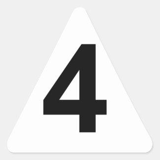 Pegatina Triangular 4 - número cuatro