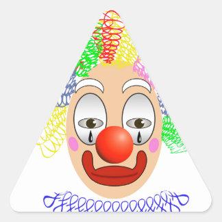 Pegatina Triangular 97Clown Head_rasterized