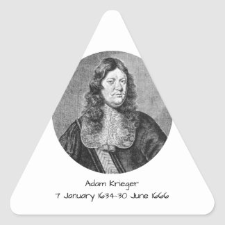 Pegatina Triangular Adán Krieger