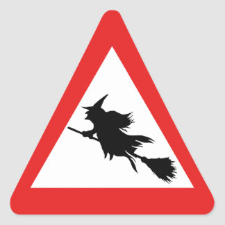 Pegatina Triangular Advertencia de la bruja