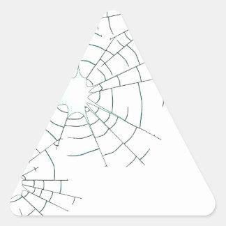 Pegatina Triangular Agujeros de bala en vidrio