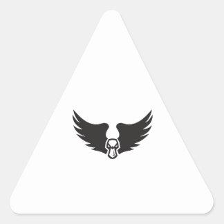 Pegatina Triangular Alas enojadas de Duck Head del pato silvestre