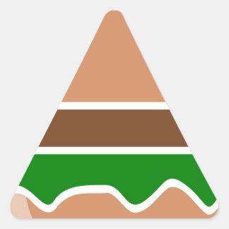 Pegatina Triangular alimentos de preparación rápida de la hamburguesa
