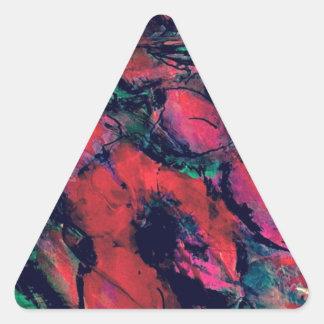 Pegatina Triangular Amapolas