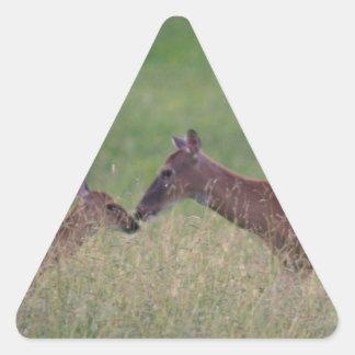 Pegatina Triangular Ámele los ciervos