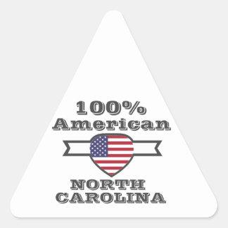 Pegatina Triangular Americano del 100%, Carolina del Norte
