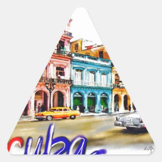 Pegatina Triangular Amo Cuba