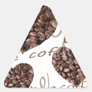 Pegatina Triangular ¡Amo el café!!