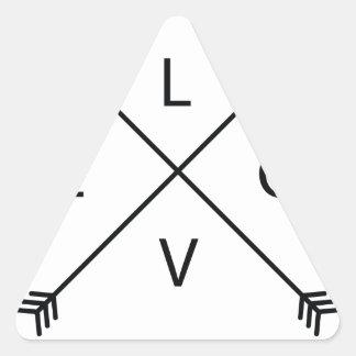 Pegatina Triangular Amor con las flechas