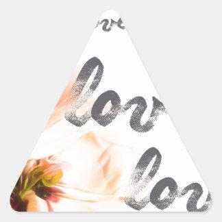 Pegatina Triangular Amor del amor del amor
